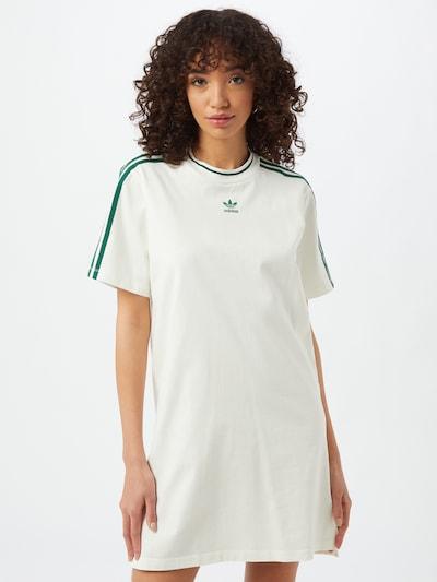 ADIDAS ORIGINALS Kleid in dunkelgrün / weiß, Modelansicht