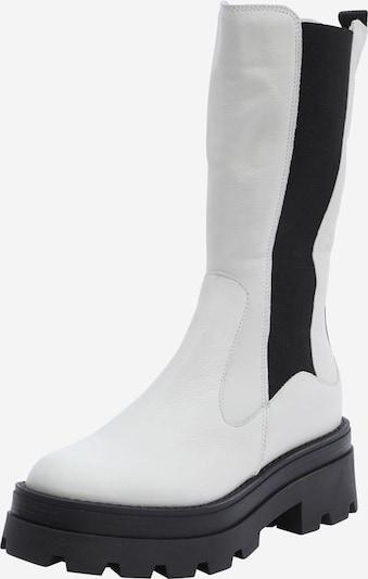 MJUS Kozačky - černá / bílá, Produkt