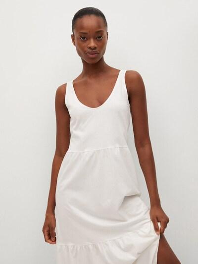 MANGO Obleka 'Masito' | bela barva, Prikaz modela