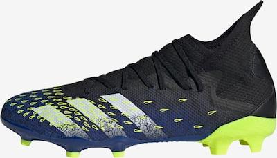 Futbolo bateliai 'Predator Freak 3' iš ADIDAS PERFORMANCE , spalva - tamsiai mėlyna / neoninė geltona / juoda / balta, Prekių apžvalga