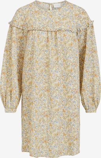 VILA Kleid 'Sanina' in beige / hellblau / gelb / grau / weiß, Produktansicht