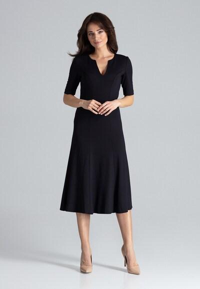 Lenitif Abendkleid in schwarz, Modelansicht