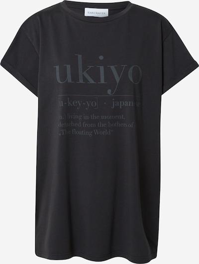Tricou 'Ukiyo' Karo Kauer pe negru, Vizualizare produs
