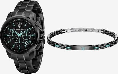 Maserati Analoog horloge in de kleur Aqua / Zwart, Productweergave