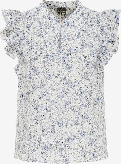 DreiMaster Klassik Bluse in hellblau / schwarz / weiß, Produktansicht