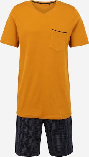 SCHIESSER Schlafanzug in dunkelblau / cognac, Produktansicht