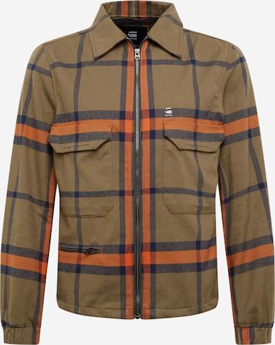 G-Star RAW Přechodná bunda - modrá / khaki / oranžová, Produkt
