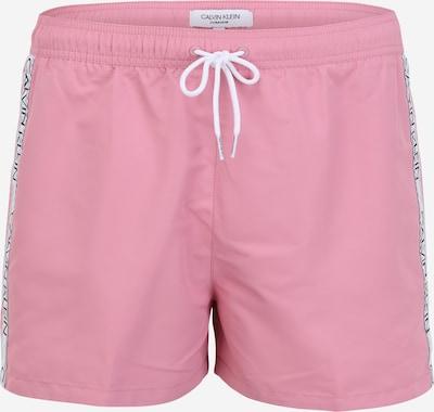 Calvin Klein Swimwear Badeshorts in rosa / weiß, Produktansicht