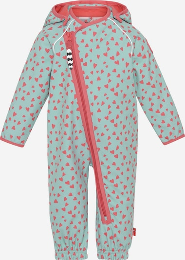 Racoon Outdoor Functioneel pak 'Eva' in de kleur Pastelblauw / Koraal, Productweergave