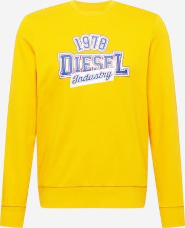 DIESEL Sweatshirt in Gelb