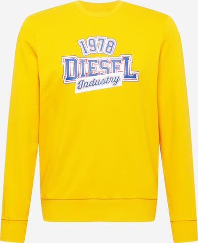 DIESEL Sweatshirt in blau / gelb / rot / weiß, Produktansicht