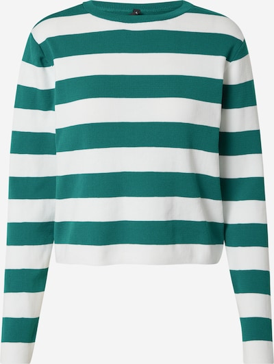 Pulover DeFacto pe verde smarald / alb, Vizualizare produs