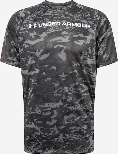 UNDER ARMOUR T-Shirt fonctionnel en gris / graphite / gris basalte / blanc, Vue avec produit