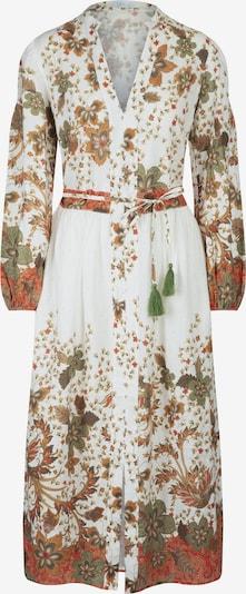 mint & mia Leinenkleid mit Druck mit V-Ausschnitt in grün / rot / weiß, Produktansicht