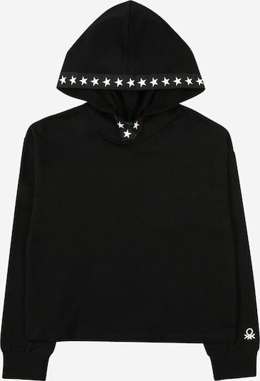 Bluză de molton UNITED COLORS OF BENETTON pe negru / alb, Vizualizare produs
