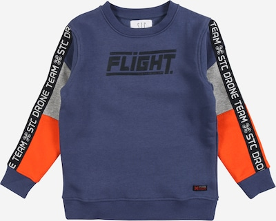 STACCATO Sweatshirt in blau / grau / orange, Produktansicht