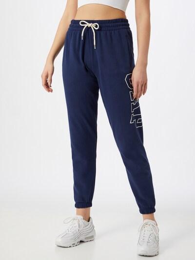 GAP Pantalon en bleu / blanc, Vue avec modèle