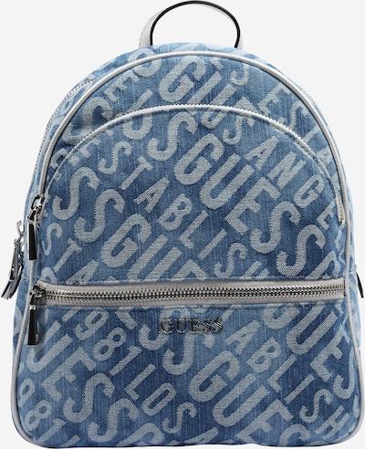 GUESS Plecak 'Manhattan' w kolorze niebieski denim / srebrnym, Podgląd produktu