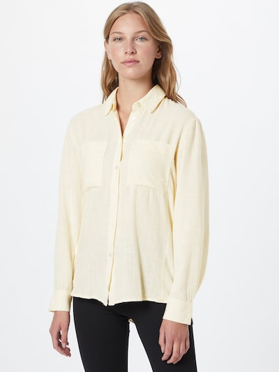Pimkie Bluse 'STAZUR' in hellgelb / weiß, Modelansicht