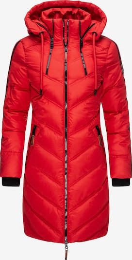 MARIKOO Wintermantel 'Armasa' in rot / schwarz, Produktansicht