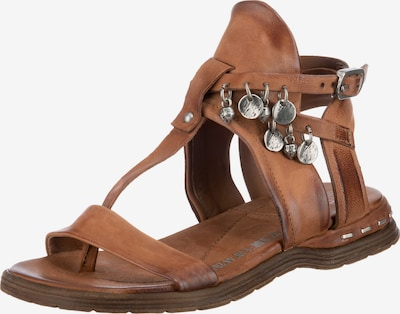 A.S.98 T-Bar Sandals 'Mare' in Cognac, Item view
