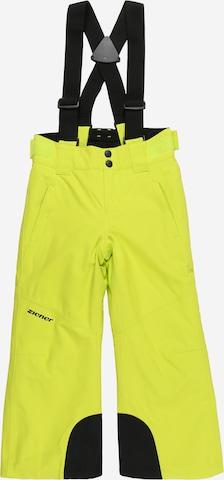 ZIENER Vabaajapüksid 'ARISU', värv roheline