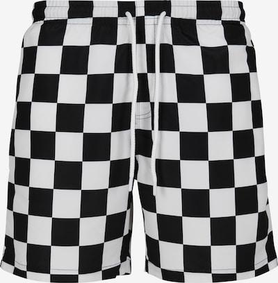 Urban Classics Badeshorts in schwarz / weiß, Produktansicht