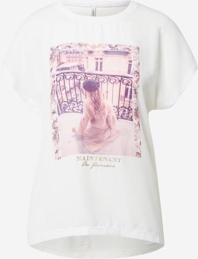 ONLY T-Shirt 'BLAIR' in gold / lila / altrosa / weiß, Produktansicht