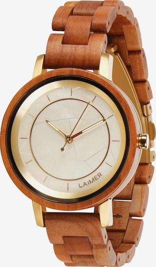 LAiMER Uhr 'Kassandra' in cognac / gold / weiß, Produktansicht