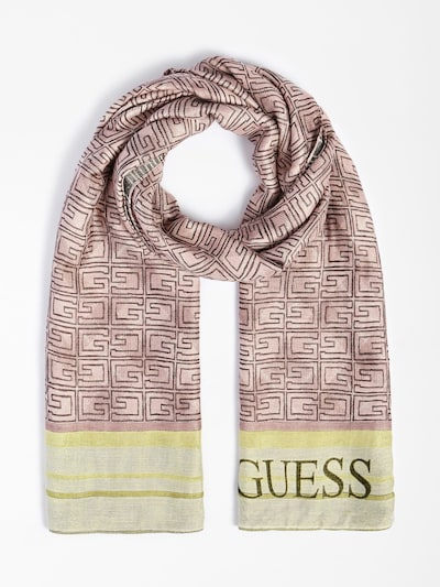 GUESS Scarf in Yellow / Pink, Item view