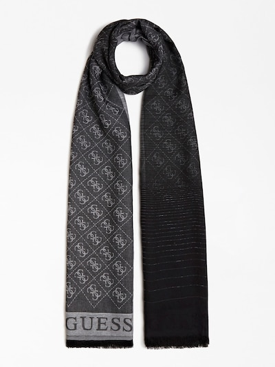 GUESS JACQUARDSCHAL CATHLEEN in grau / schwarz, Produktansicht