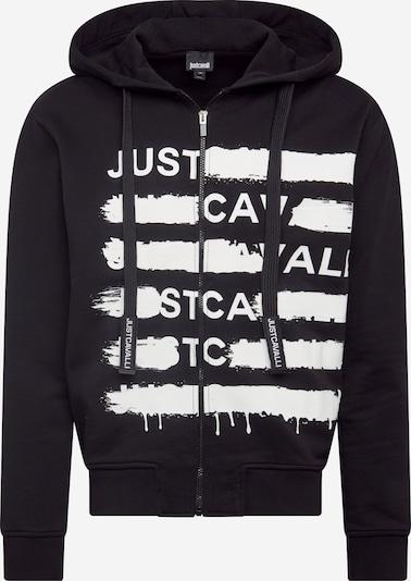 Just Cavalli Sweatjacke in schwarz / weiß, Produktansicht