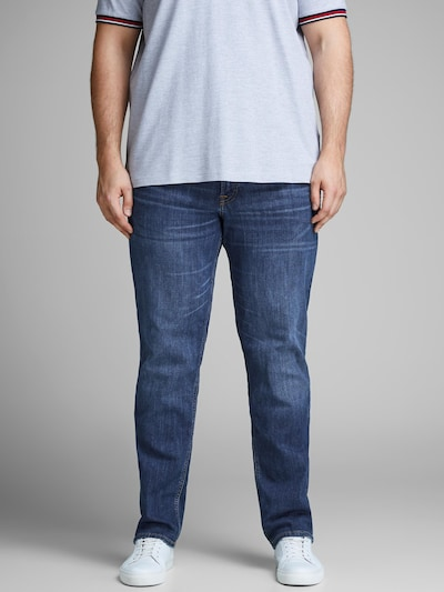 Jack & Jones Plus Jeans 'Tim' in blue denim, Modelansicht