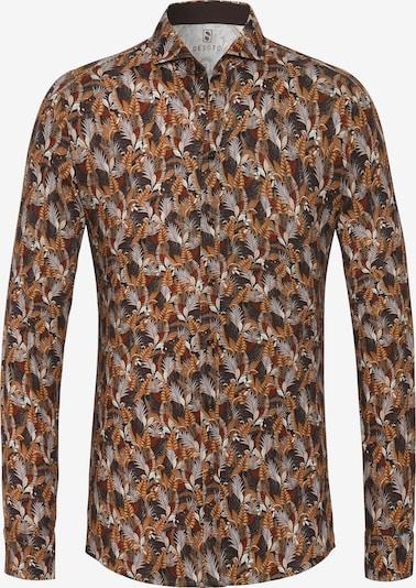 DESOTO Hemd 'Hai' in karamell / braunmeliert / bordeaux / weiß, Produktansicht