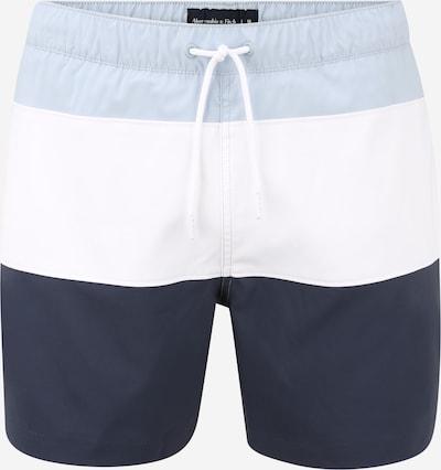 Abercrombie & Fitch Plavecké šortky - noční modrá / světlemodrá / bílá, Produkt