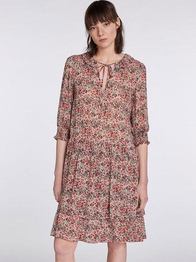 SET Kleid in smaragd / dunkelgrün / rot / weiß, Modelansicht