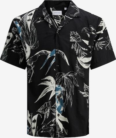 JACK & JONES Hemd in türkis / schwarz / offwhite, Produktansicht