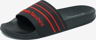 Sergio Tacchini Slipper in rot / schwarz, Produktansicht