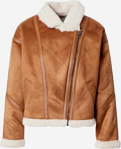 Pimkie Zimska jakna 'JSBOMB' | rjava / bela barva, Prikaz izdelka