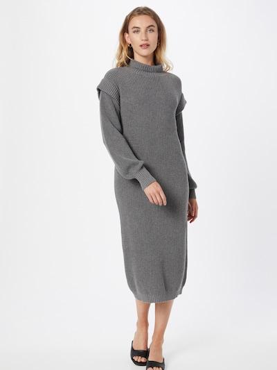 Esmé Studios Kleid 'Ada' in dunkelgrau, Modelansicht