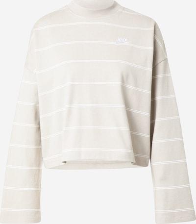 Nike Sportswear Sweat-shirt en crème / blanc, Vue avec produit