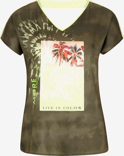 Tricou Ci comma casual identity pe galben pastel / oliv / culori mixte, Vizualizare produs