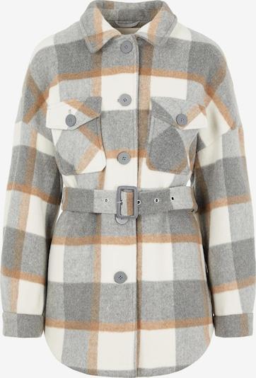 PIECES Prechodná bunda 'Selma' - krémová / svetlohnedá / sivá / sivá melírovaná, Produkt