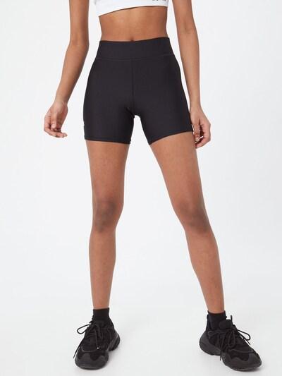 UNDER ARMOUR Sporthose in schwarz / weiß: Frontalansicht