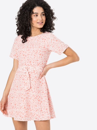Fashion Union Kleid 'AMBER' in rosa / weiß, Modelansicht