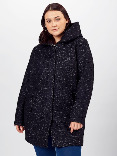 fekete melír ONLY Carmakoma Átmeneti kabátok 'NEWSEDONA', Modell nézet