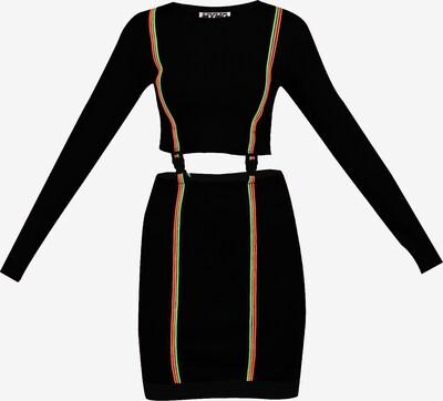 myMo ATHLSR Robe de sport en vert fluo / orange fluo / rose néon / noir, Vue avec produit