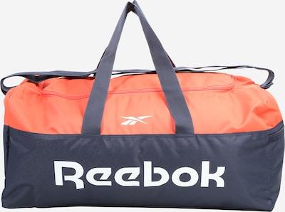 REEBOK Športna torba | mornarska / oranžno rdeča / bela barva, Prikaz izdelka
