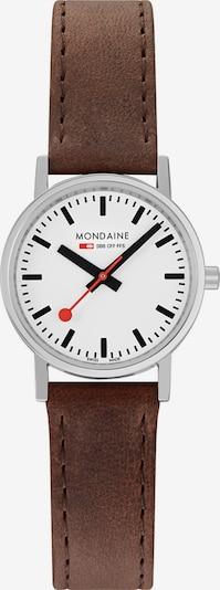 Mondaine Damen-Uhren Analog Quarz ' ' in braun / silber, Produktansicht