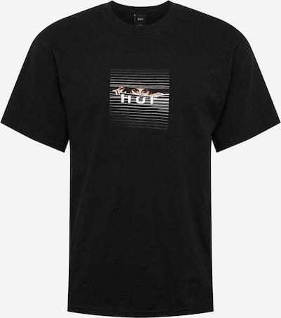 Marškinėliai iš HUF , spalva - smėlio / juoda / balta, Prekių apžvalga